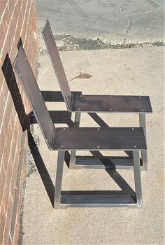 Set of 2 Modern Chic Bench Legs Model Tubing Outdoor Furniture Plans, Diy Garden Furniture, Deck Furniture, Street Furniture, Metal Furniture, Rustic Furniture, Furniture Design, Outdoor Seating, Outdoor Chairs
