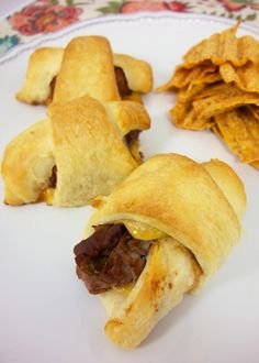 "BBQ Beef & Cheddar Crescents from ""Plain Chicken"""