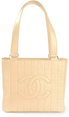 $1,364, Vintage Quilted Shopper Tote by Chanel. Sold by farfetch.com. Click for more info: http://lookastic.com/women/shop_items/62401/redirect