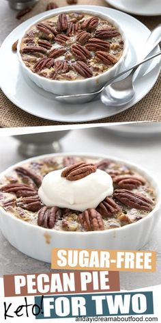 The easiest pecan pie you will ever make, and it's keto and sugar-free! Rich, decadent, and oh so gooey, this low carb Thanksgiving dessert takes [. Sugar Free Pecan Pie, Sugar Free Desserts, Sugar Free Recipes, Dessert Recipes, Breakfast Recipes, Dinner Recipes, Low Carb Sweets, Low Carb Desserts, Low Carb Recipes