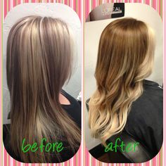 Highlights to ombré