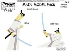 "Art of Animation — penciltests: Model Sheet Monday ""Samurai Jack"". Samurai Jack Aku, Samurai Warrior, Character Poses, Character Sheet, Character Art, Design Reference, Pose Reference, Animation Reference, Pencil Test"