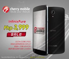 Promo Alert: Get Cherry Mobile Infinix Pure Octa-Core smartphone for only P3,999 on May 29-31