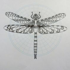 dragonfly tattoo mandala - Google Search