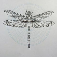 dragonfly tattoo mandala - Google Search