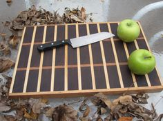 Walnut And Hard Maple End Grain Cutting Board (ready To Ship)