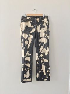 2c88e85740 altered Ralph Lauren black jeans with allover bleach spots   rad 90 s-Y2K  dollz