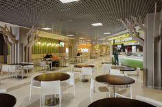 Food Court Design, Food Design, Bistro Decor, Food Park, B Food, Rooftop Restaurant, Commercial Design, Ceiling Design, Coffee Shop