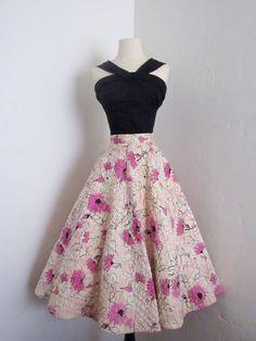 vintage 1950's Alex Colman floral rockabilly full circle by dLeChe