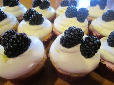 Blackberry and Lemon Cupcakes by Think Sweet! Cakes by Trisha