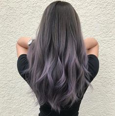 65 Ideas Hair Color Purple Grey Silver The most beautiful hair ideas, the most trend hairstyle Hair Color Balayage, Hair Highlights, Silver Highlights, Grey Hair With Purple Highlights, Haircolor, Lavender Highlights, Purple Balayage, Ombré Hair, Emo Hair