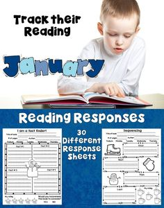 Reading Response Sheets for January  This set of January themed Reading Response sheets will help your students keep track of the books they are reading. The best part is that you can use it with any set of books! The clipart is themed but the questions are not! Increase accountability with these Reading Response Sheets!