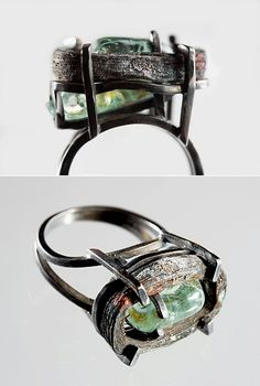 "What an unfortunate ring. (copy title!)   Not because of the ring itself, but because of the circumstance. In their ""Bomb Wreck"" series, Dutch artists Jiska Hartog, Michiel Henneman and Jonas Staal used scraps from a March 2007 bomb attack in Baghdad."
