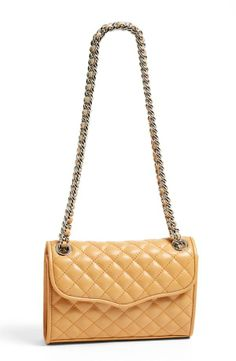 Nude, Rebecca Minkoff Quilted Convertible Crossbody Bag. Love!