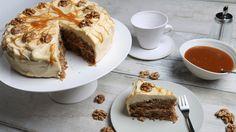 Apfel-Walnuss-Karamell-Kuchen | Rezepte | ARD-Buffet