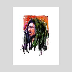 This is a gallery-quality giclèe art print on cotton rag archival paper, printed with archival inks. Bob Marley Legend, Robert Nesta, Nesta Marley, Portrait Art, Art Prints, Printed, Gallery, Paper, Cotton