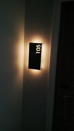 Hotel Door Signage Entrance New Ideas Door Signage, Hotel Signage, Exterior Signage, Wayfinding Signage, Signage Design, Hotel Corridor, Hotel Door, Patio Door Coverings, Room Signs
