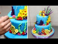 How To Make Finding Nemo/Dory Cake - YouTube
