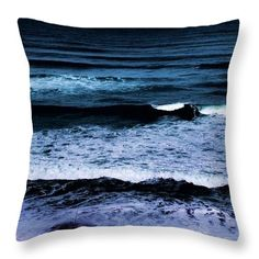 Throw Pillow featuring the photograph Dark Sea by Dora Hathazi Mendes #throwpillow #darksea #dorahathazi