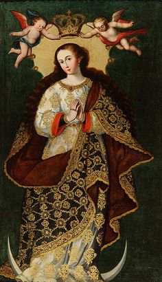 Title 	Immaculate Conception	Unknown artist of Cuzco School  late 17th century