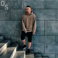 #OutfitSociety Presents @mogimike mugging and shrugging:  Hoodie: Zara Tee: Topman Shorts: H&M Sneakers: Adidas NMD City Sock