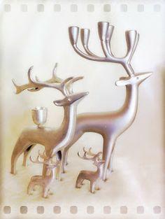Pentik silver reindeers, candlesticks and cuties