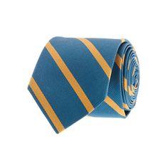 J.Crew thin-stripe silk tie in academic blue