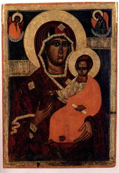 Hodegetria Smolenskaya or Our Lady of Smolensk. Belarusian,  15-19th c. // MD din Smolensk. Belarus, c. 15-19.