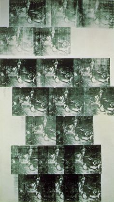 Andy Warhol(1928-1987) / White Car Crash 19 Times