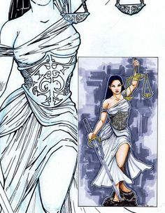 Lady Justice by JohnJohnstonArt.deviantart.com on @deviantART