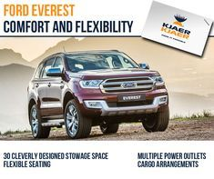 The All-New Ford Everest offers spacious and modern interior for a comfortable drive for up to seven passengers. #Ford #FordEverest http://qoo.ly/fauw4