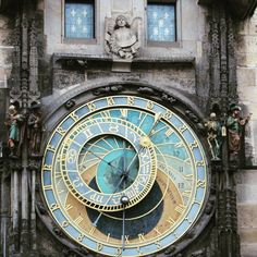 Prague Astronomical clock - built in the 15th century - note the four figures beside the clock represent Vanity (with a mirror) Greed (with his moneybag) Death (the skeleton) and Pagaimln Invasion represented by a Turk). Every hour Death rings a bell and 12 apostles parade past the windows above the clock.  #pragueastronomicalclock #prague #astronomicalclock #12apostles #pragueoldtown #praguemustsee by lalitha.venkateswaran http://ift.tt/1ijk11S