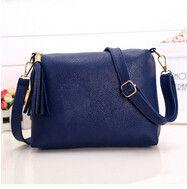 new Candy color tassel bag minimalist style solid Messenger bag fashion casual women bag Handbag