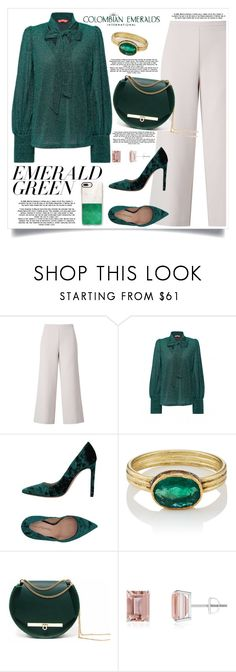"""""""Emerald green:Pops of green"""" by erycaah ❤ liked on Polyvore featuring Miss Selfridge, Marco Barbabella, Judy Geib, Angela Valentine Handbags, Casetify and emeraldgreen"""