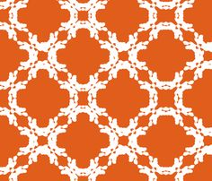 Orange fabric  floral fabric by eniko on Spoonflower - custom fabric