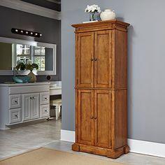 Amazon.com: Home Styles 5004-69 Americana Pantry Storage Cabinet, Distressed Oak Finish: Kitchen & Dining