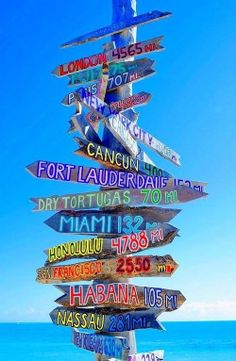 Signpost in Key West, Florida • photo: photoworldart on imagekind
