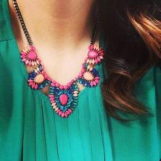 Frida Necklace | Stella  Dot | Statement | Pink | Spring | Gifts | Valentine's Day | www.stelladot.com/taylorbecker