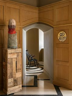 Pierre Yovanovitch's château in the south of France | House & Garden Tree Trunk Table, Pierre Yovanovitch, Ceramic Owl, Fairy Doors, South Of France, Fairy Houses, Tile Patterns, Contemporary Interior, Decorative Accessories