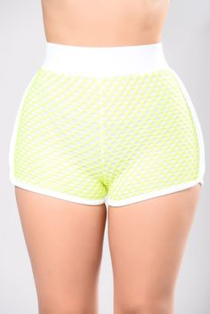 Under Me Shorts - Neon Yellow