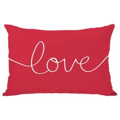 Love Mix & Match Holiday - Ivory/red Throw Pillow