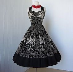 Mexican circle skirt dress
