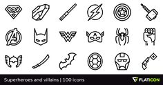 100 free vector icons of Superheroes and villains designed by Freepik