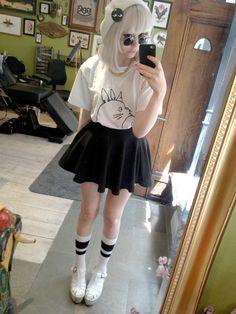 Pastel goth, nu goth, soft grunge, accessories, pastel, hair, scene style, fashion