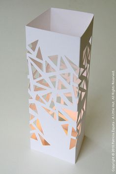 how to make a paper hurricane cover -just beautiful and random triangles!