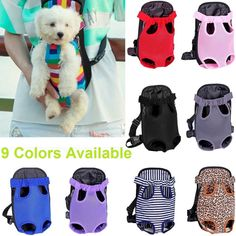 Nylon Mesh Pet Puppy Dog Cat Carrier Backpack Front Net Bag Tote Sling Carrier #Unbranded