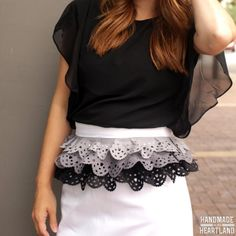 DIY lace ruffle with a cricut explore are easy and fun to incorporate into your projects!