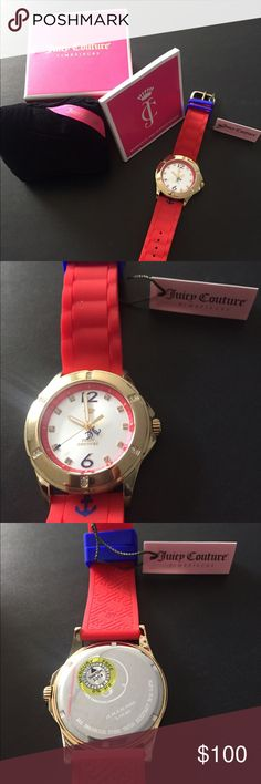 Juicy Couture Watch Juicy Couture Watch.                                                            Juicy Couture Women's Rich Girl Nautical Red Silicone Strap Watch Juicy Couture Accessories Watches