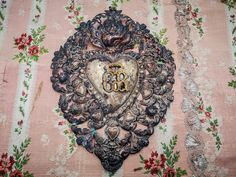 Antique Italian exvoto Sacred Heart, large size, antique milagros, Italian religious exvoto, tarnished & darkened by aging, large exvoto by villavillacolle on Etsy