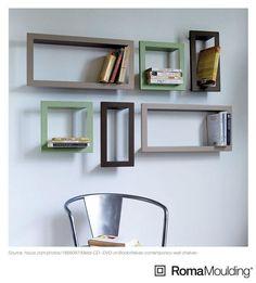 Custom frames as bookshelves!